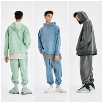 ATTENTIONROW(アテンションロー) セットアップ [ATTENTION ROW] CURVE TUNNEL PIGMENT OVER-FIT HOODIE SET-UP