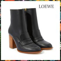 LOEWE☆レザーローファーブーツLeather loafer ankle boots