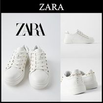 ☆ZARA☆ANIMAL PRINT TRAINERS WITH FAUX PEARLS AND STUDS