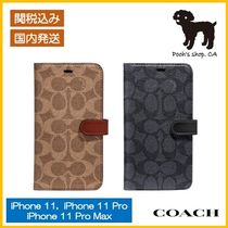 【COACH】Iphone Folio In Signature Canvas◆国内発送◆