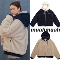 ★muahmuah★TWOTONE COMBI FLEECE JACKET【追跡送料込】
