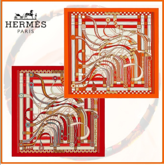 2021AW★HERMES☆エルメス☆Shawl 140 Voltes et Pirouettes (HERMES/スカーフ) 58702540
