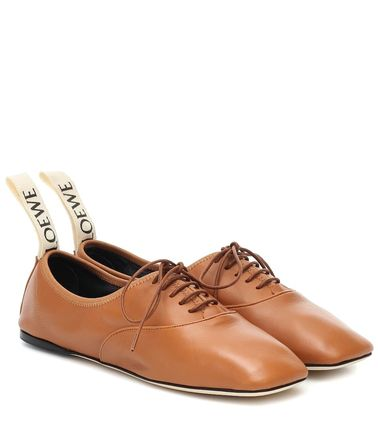 LOEWE フラットシューズ LOEWE☆ DERBY LEATHER SHOESソフト ダービー CAMEL(2)