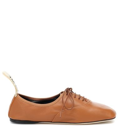 LOEWE フラットシューズ LOEWE☆ DERBY LEATHER SHOESソフト ダービー CAMEL(3)