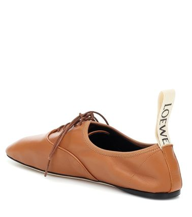 LOEWE フラットシューズ LOEWE☆ DERBY LEATHER SHOESソフト ダービー CAMEL(4)