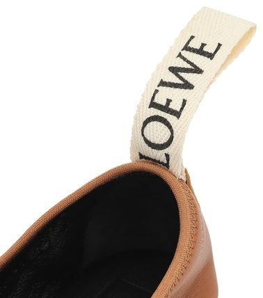 LOEWE フラットシューズ LOEWE☆ DERBY LEATHER SHOESソフト ダービー CAMEL(5)
