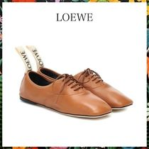 LOEWE☆ DERBY LEATHER SHOESソフト ダービー CAMEL