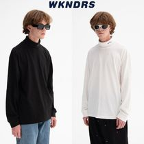 【WKNDRS】20fw LONG SLEEVE TURTLE NECK Black/White