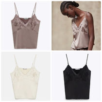 ZARA【NEW】  EMBROIDERED CAMISOLE TOP
