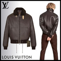 LOUIS VUITTON◆レザーアビエイター ジャケット 1A7Y8T