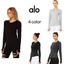 ALO Yoga(アロー) Tシャツ・カットソー 関税・送料無料 alo yoga FINESSE LONG SLEEVE TOP カットソー