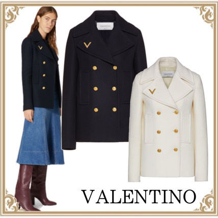 VALENTINO☆ Drill Drop Caban with V-gold Detail 2カラー