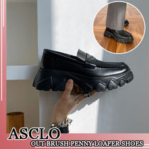 ASCLO★韓国の人気★OUT BRUSH PENNY LOAFER SHOES(6.5cm)