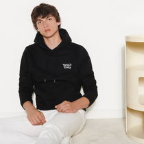 """""""sandro homme"""" Embroidered hoodie Black"""