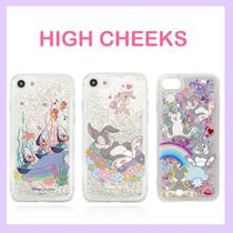 韓国芸能人愛用【HIGH CHEEKS】Disney Glitter iPhoneケース/3種