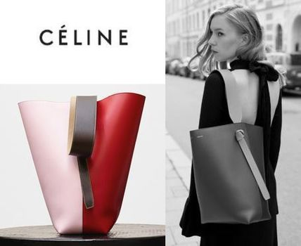 CELINE トートバッグ セール!! CELINE by フィービー♡旧ロゴ☆Twisted Cabas S