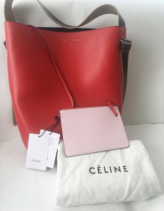 CELINE トートバッグ セール!! CELINE by フィービー♡旧ロゴ☆Twisted Cabas S(7)
