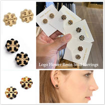 定番 Tory Burch★Logo Flower Resin Stud Earring*可愛いピアス