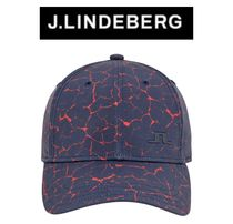 【J.LINDEBERG】Angus プリント キャップ CAMOU NAVY