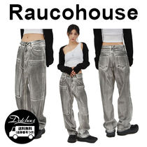 Raucohouse Dirty Stone Washed Denim Pants CA48 追跡付