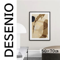★DESENIO★UMBER ABSTRACTION NO2 POSTER・50×70㎝★抽象画