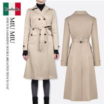 MIU MIU STRETCH GABARDINE DOUBLE-BREASTED TRENCH COAT