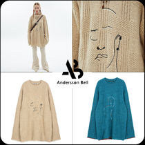 [ANDERSSON BELL] ★UNISEX OVERSIZED EMBROIDERY SWEATER
