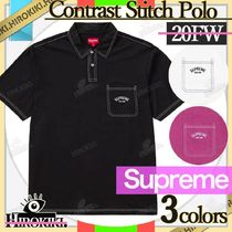 20FW/Supreme Contrast Stitch Polo コントラスト ステッチ ポロ