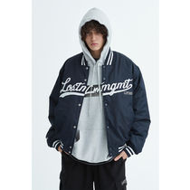 [ LMC ] LMC EMB BASEBALL JACKET (Navy)