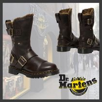 ★Dr.Martens★KRISTY MID FAUX FUR LINED LEATHER BOOTS/BROWN