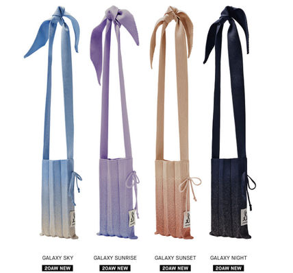 JOSEPH&STACEY ショルダーバッグ・ポシェット ☆韓国人気☆JOSEPH&STACEY☆Lucky Pleats Knit Cellbag Galaxy(3)