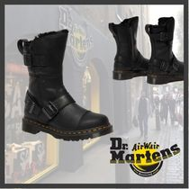 ★Dr.Martens★KRISTY MID FAUX FUR LINED LEATHER BOOTS/BLACK
