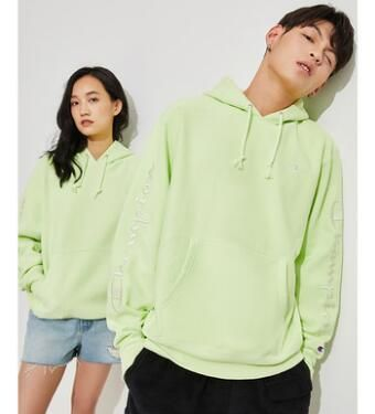 Urban Outfitters パーカー・フーディ Urban Outfitters×Championユニセックスパーカーライトグリーン