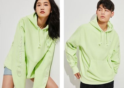 Urban Outfitters パーカー・フーディ Urban Outfitters×Championユニセックスパーカーライトグリーン(4)