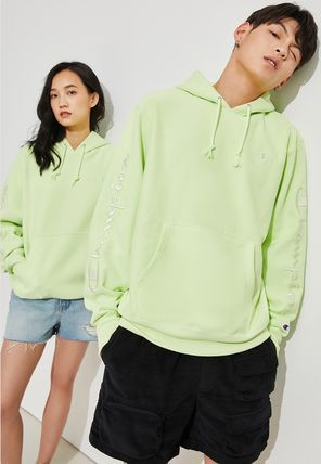 Urban Outfitters パーカー・フーディ Urban Outfitters×Championユニセックスパーカーライトグリーン(5)