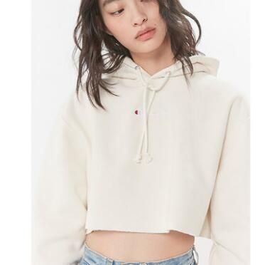 Urban Outfitters パーカー・フーディ Urban Outfitters×Championクロップドパーカーオフホワイト