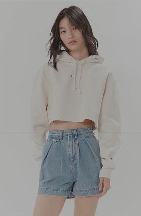 Urban Outfitters パーカー・フーディ Urban Outfitters×Championクロップドパーカーオフホワイト(4)