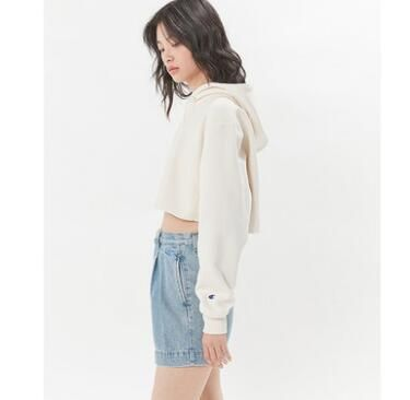 Urban Outfitters パーカー・フーディ Urban Outfitters×Championクロップドパーカーオフホワイト(5)