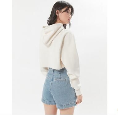 Urban Outfitters パーカー・フーディ Urban Outfitters×Championクロップドパーカーオフホワイト(6)