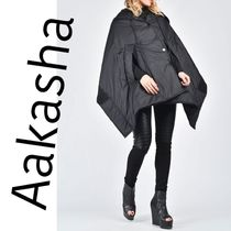 Aakasya★Quilted Poncho Hoodie☆人と差がつくお洒落をしよう♪