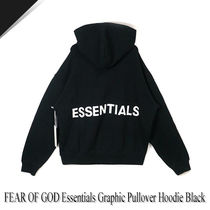 FEAR OF GOD Essentials Graphic Pullover Hoodie Black