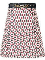 【GUCCI】abstract print A-line skirt