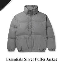 【送料込み】Essentials Silver Puffer Jacket