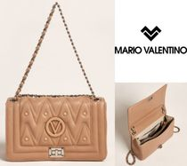 MARIO VALENTINO☆Hazelnut Alice Quilted Leather Shoulder Bag