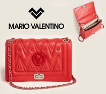 MARIO VALENTINO☆Poppy Red Alice Quilted Leather Shoulder
