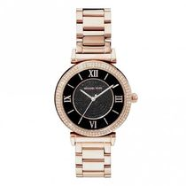MK3356 Black and Rose Gold Ladies Watch