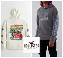 ★Hollister Co.★プリントロゴグラフィックフーディー