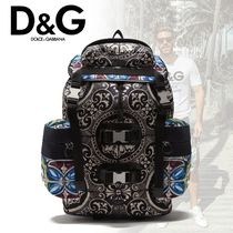 20-21AW D&G バックパック ナイロン マヨリカプリント
