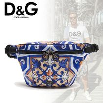 20-21AW D&G ウエストポーチ ナイロン マヨリカプリント