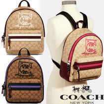 【SALE】COACH◆Vale Medium Charlie Backpack Rexy By Guang Yu